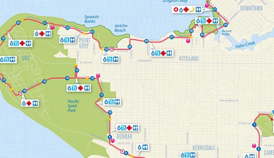 BMO Vancouver Marathon Map