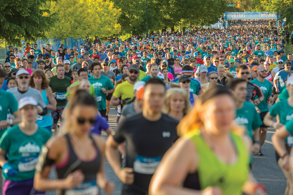 Record Numbers. In its 45th year, the Vancouver Marathon welcomes a record number of participants! https://bmovanmarathon.ca/record-numbers/2016/04 Photo: Christopher Morris / RUNVAN®
