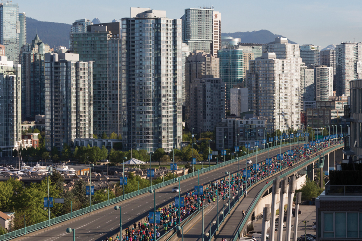 Run with the whole city behind you at BC's best Half Marathon. Photo: Cameron Sparling / RUNVAN®
