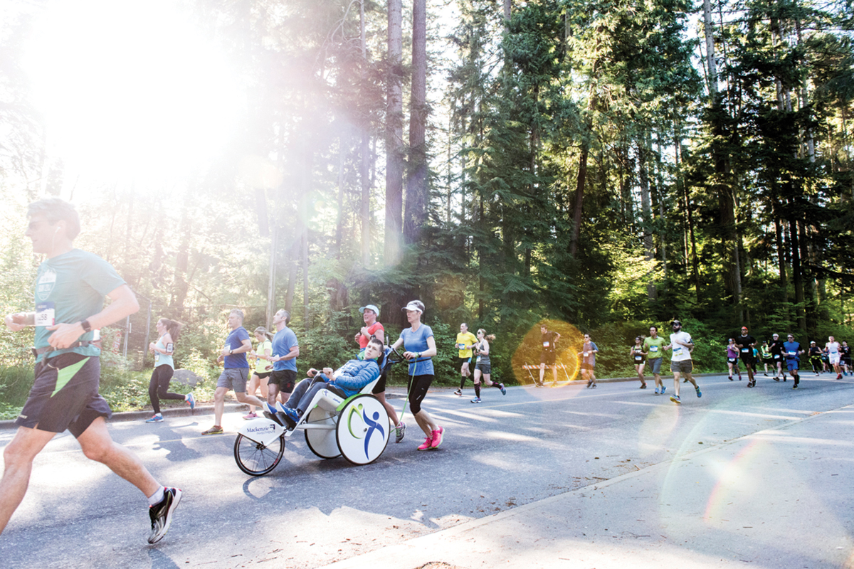 RUN4HOPE. Charity runners raise over $400,000 for charity, bringing the total charity contribution to $14.6 million since the program started in '96: https://bmovanmarathon.ca/over-400000-raised-for-charity/2016/06 Photo: Maylies Lang / RUNVAN®