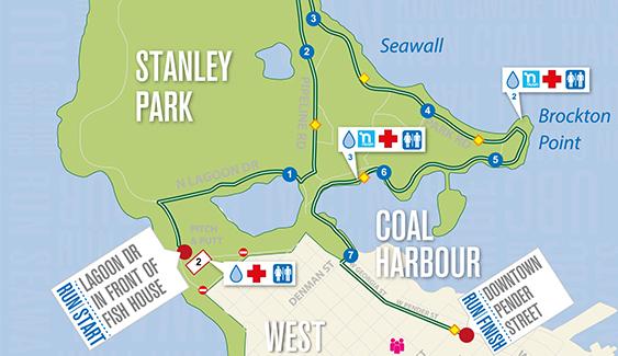 BMO Vancouver Marathon 8KM Map