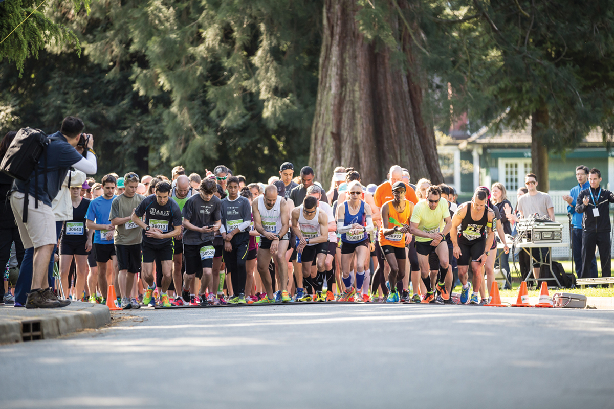 8KM Start Line at BMO Vancouver Marathon race weekend