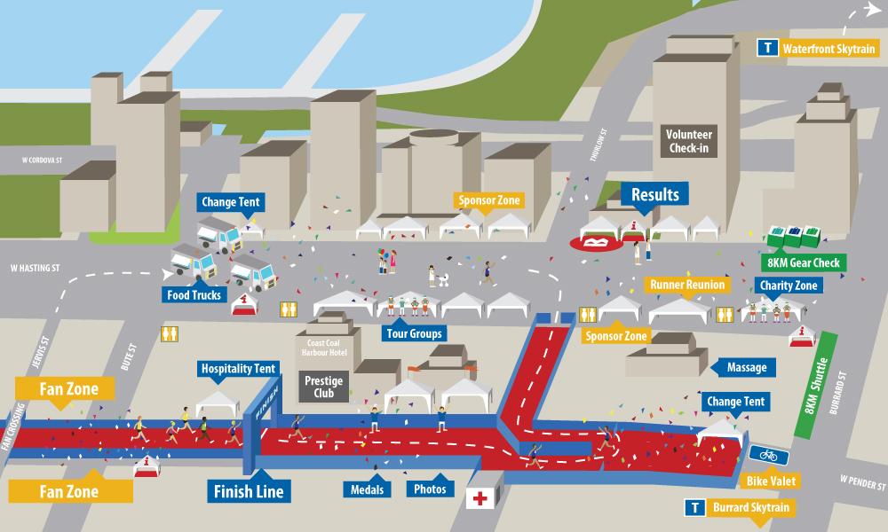 BMO Vancouver Marathon 8KM Street Festival
