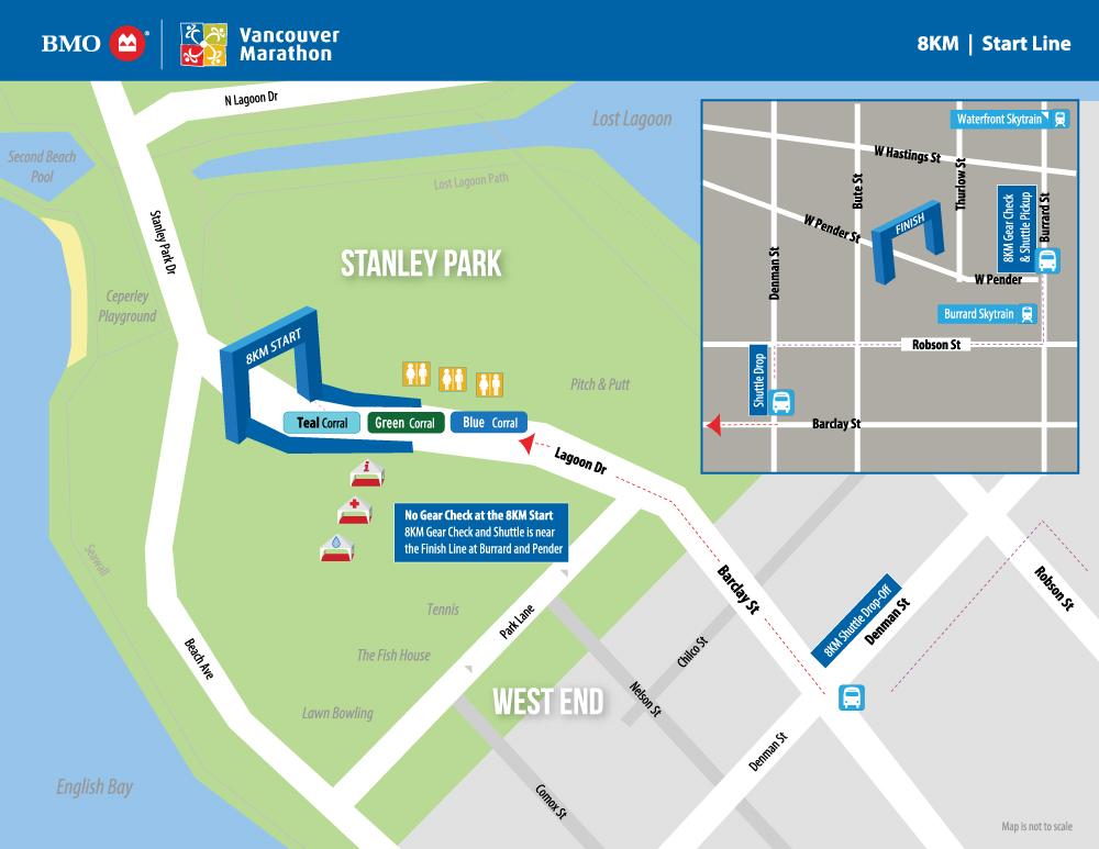 BMO Vancouver Marathon 8KM Start Line