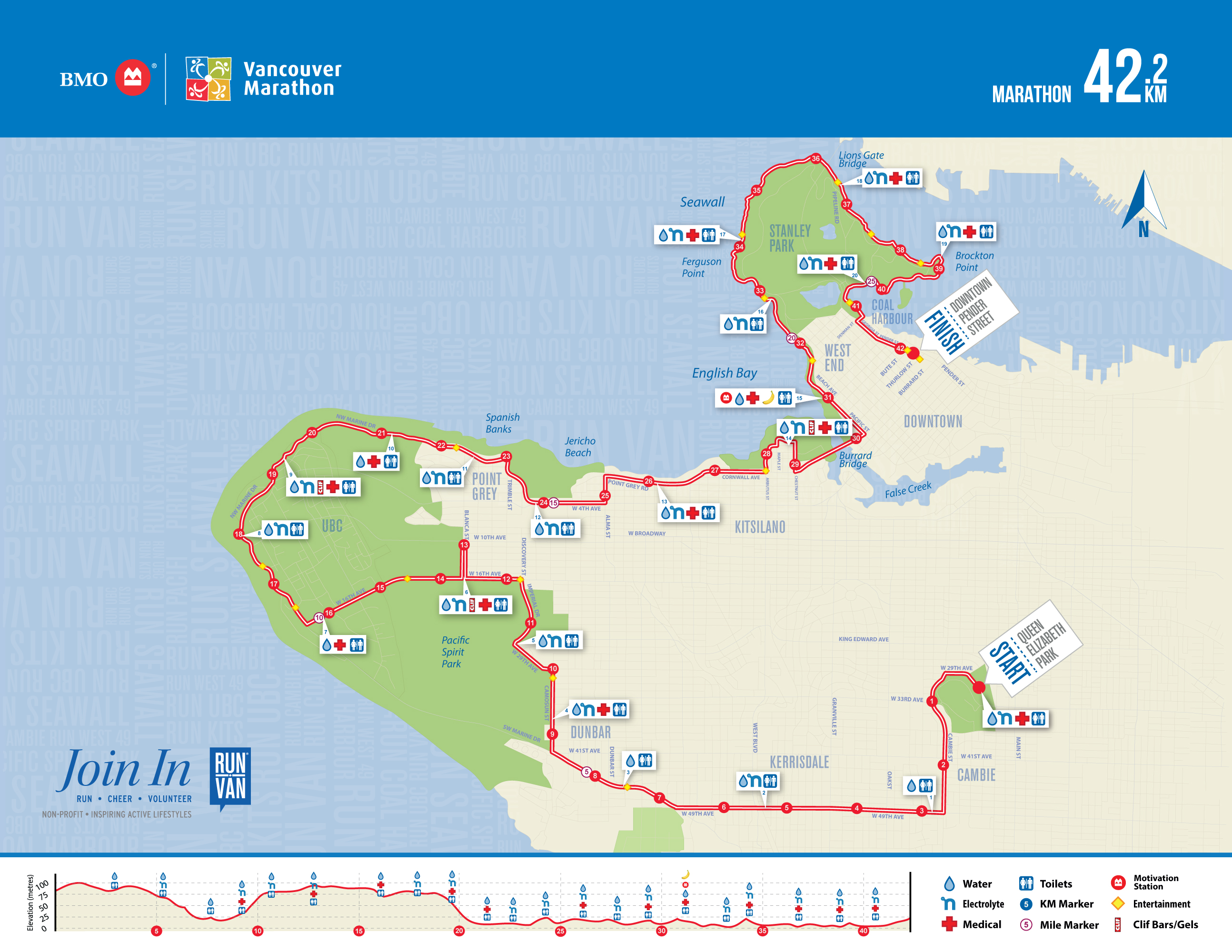 Upcoming Events Bmo Vancouver Marathon Runvan - Vancouver-on-us-map