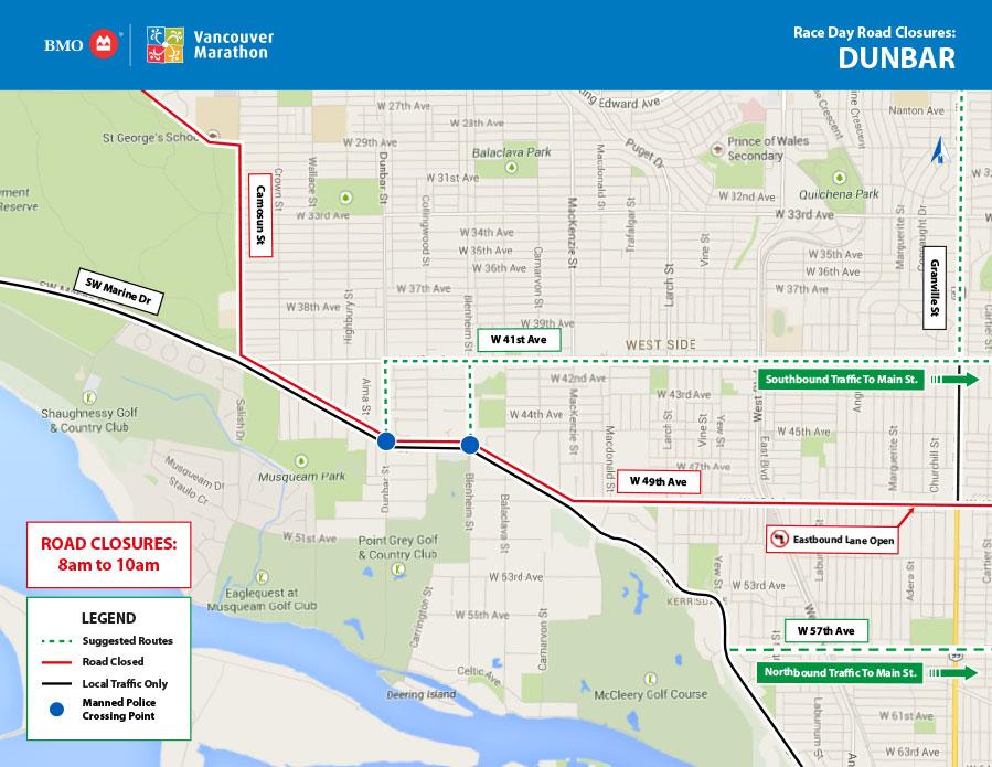 BMO Vancouver Marathon Dunbar