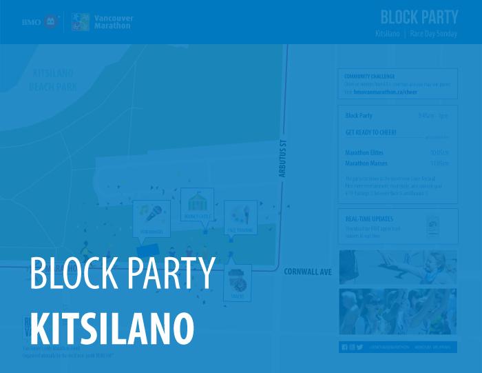 2020 BMO Vancouver Marathon Block Parties Kitsilano