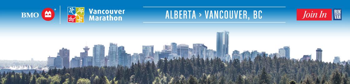 Travel from Alberta to the BMO Vancouver Marathon
