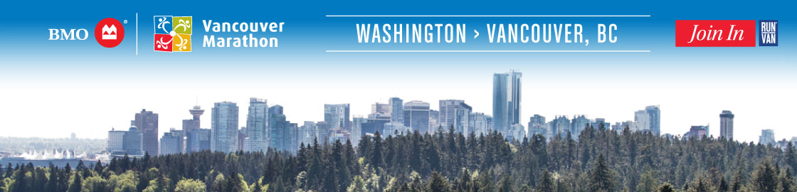 Travel from Washington to the BMO Vancouver Marathon