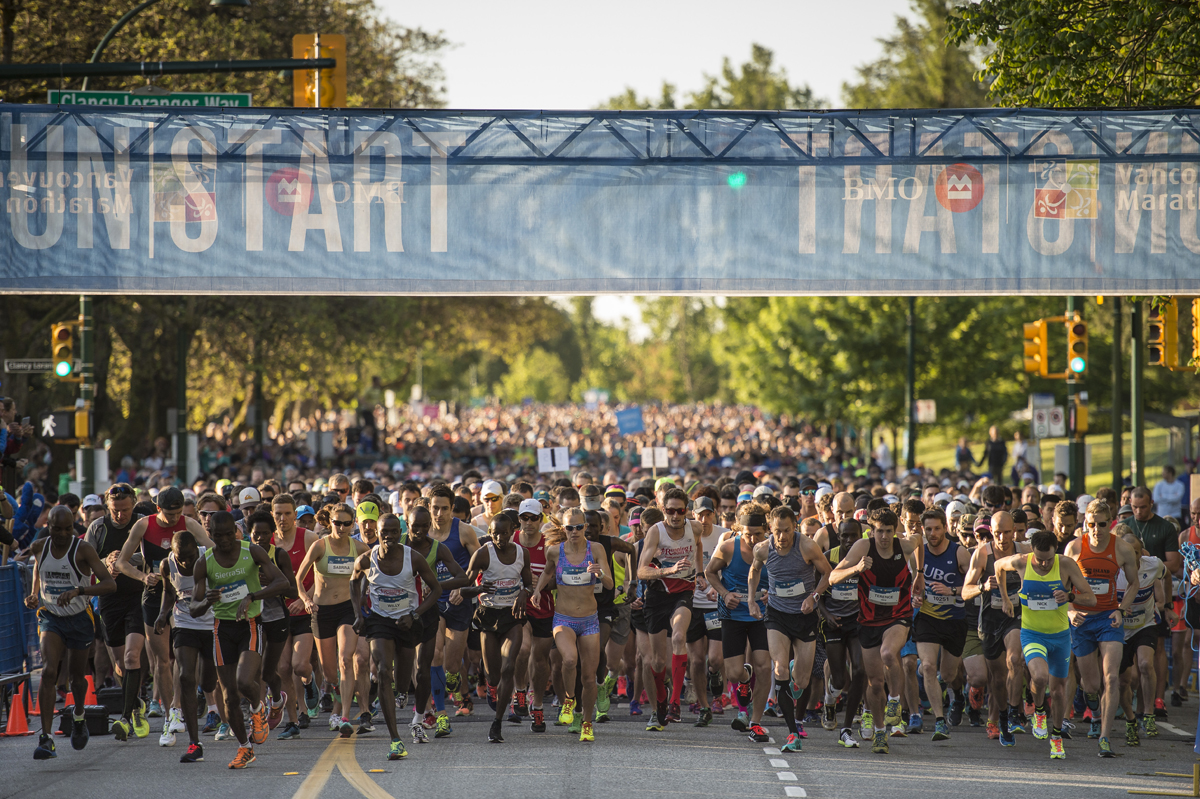 Join the award-winning BMO Vancouver Marathon. Photo: Christopher Morris / RUNVAN®