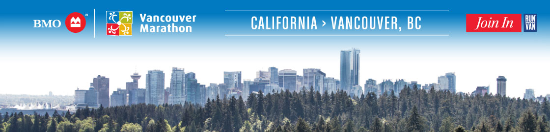 Travel from California to the BMO Vancouver Marathon