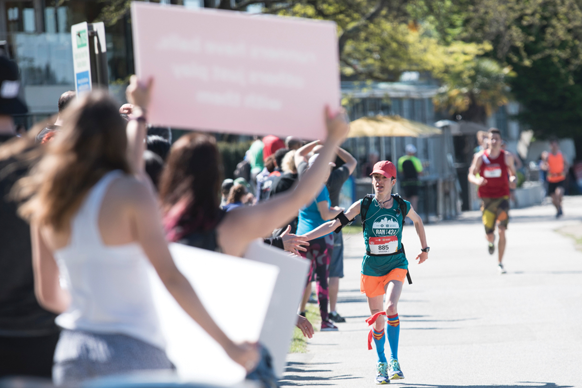 Award-winning. The BMO Vancouver Marathon is voted Vancouver's best race, and one of the very best races anywhere in the world: https://bmovanmarathon.ca/visitors/marathon-awards Photo: Maia Rubin / RUNVAN®