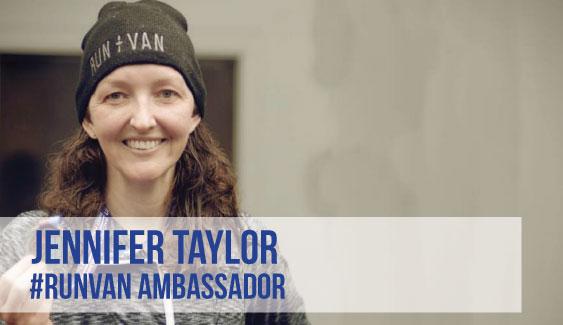 RUNVAN Ambassador Jennifer Taylor