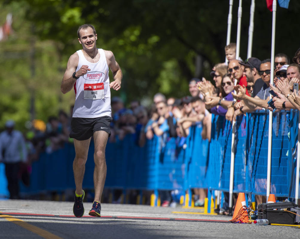 Top Canadian at last year's Marathon, Mike Trites finishes second overall in 2018. Photo: Christopher Morris / RUNVAN®