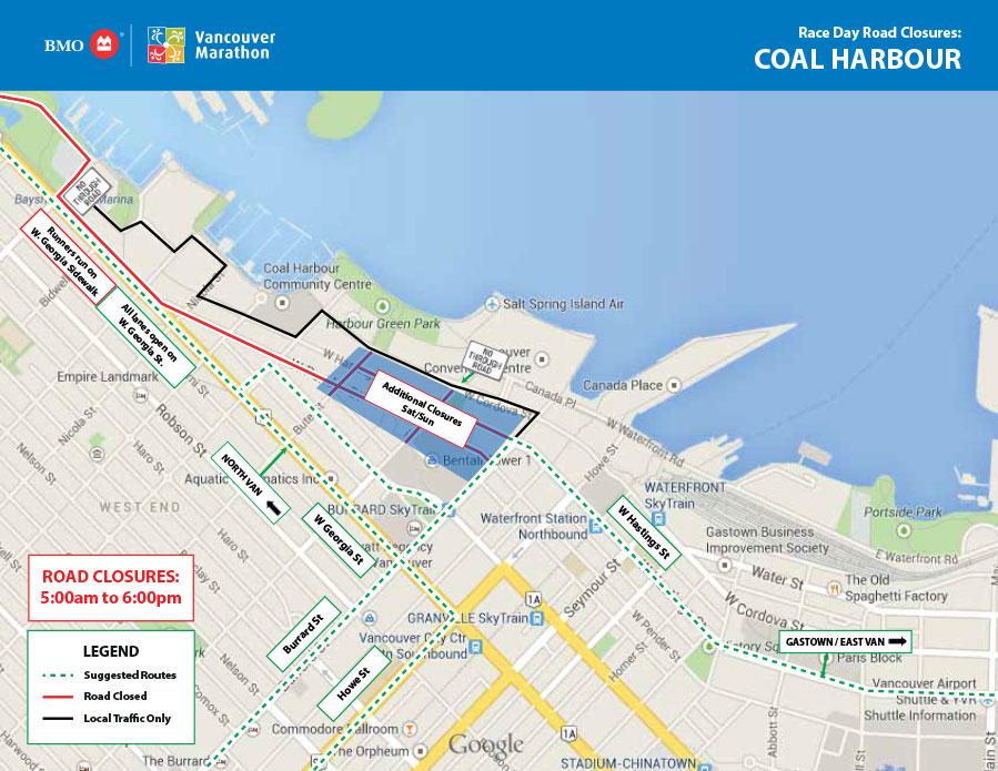 BMO Vancouver Marathon Coal Harbour