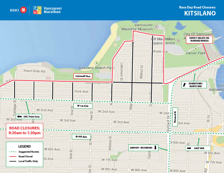 BMO Vancouver Marathon Kitsilano