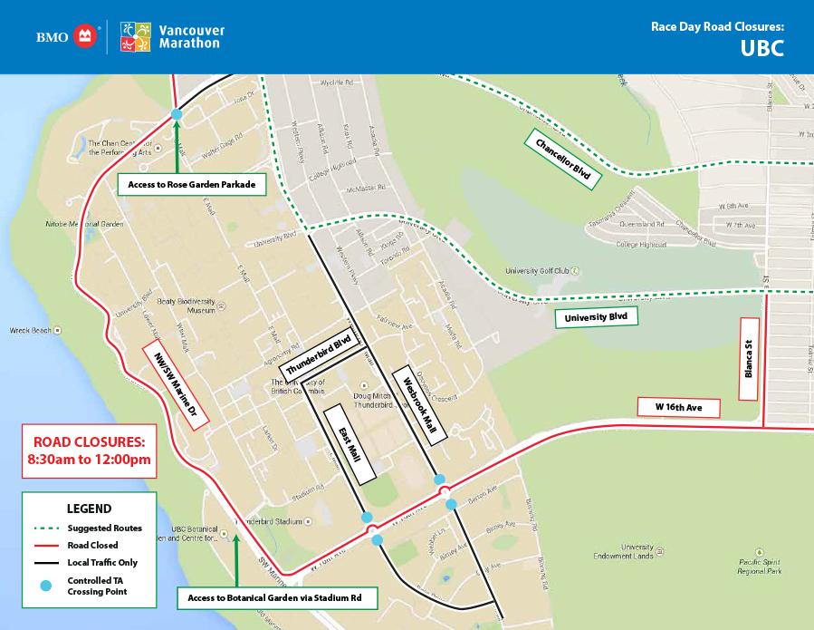 BMO Vancouver Marathon UBC